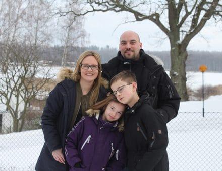 Mamma Susanne, Pappa Andreas, Gustav och Freja